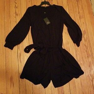 NWT Tart Collections black romper